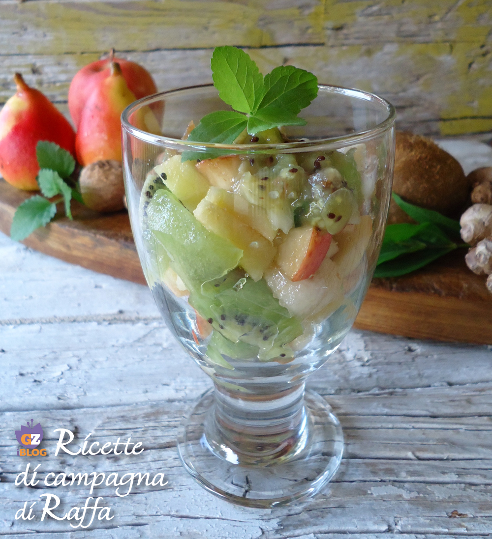 macedonia con salsa di kiwi