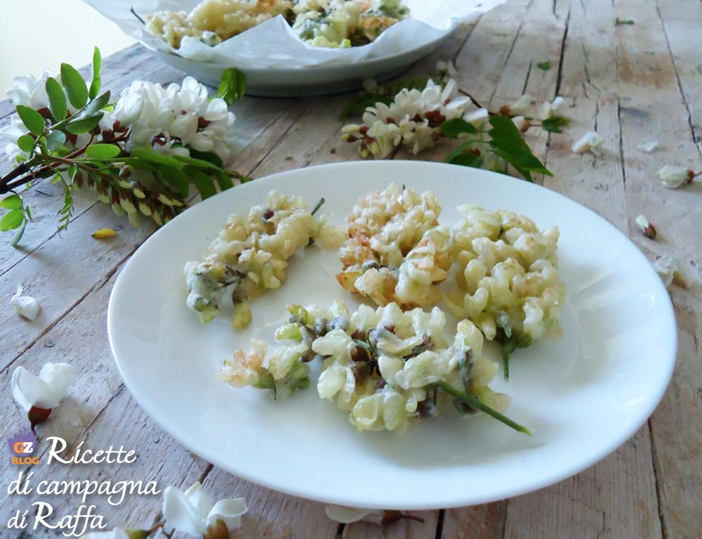 Fiori di acacia in tempura - videoricetta