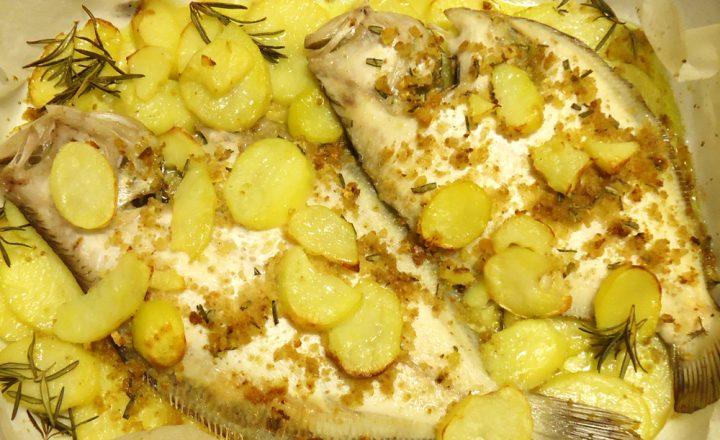 Rombo al forno con patate