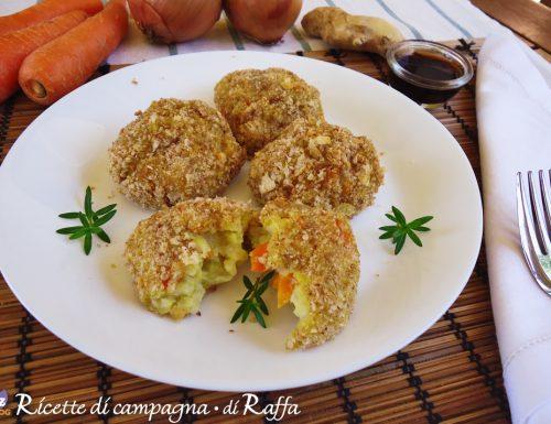Supplì al sesamo con carote e zenzero