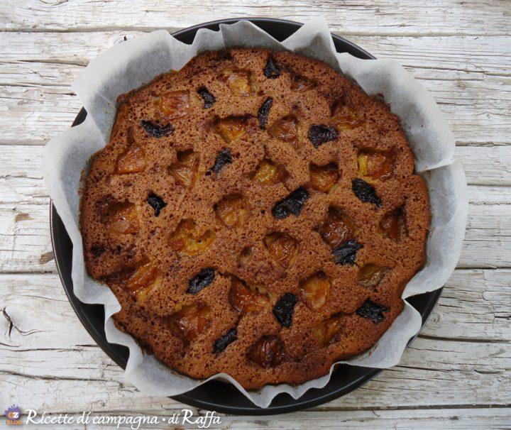 torta alla frutta fresca con olio di oliva