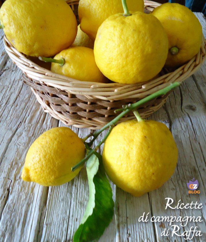 Limoncello fatto in casa - limoni