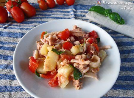 Insalata fresca di totani e verdure