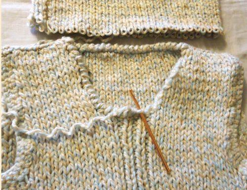 Come togliere il collo alto ad un maglione e rifinire a punto gambero