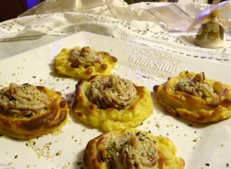 Tartine di patate e besciamella con bresaola
