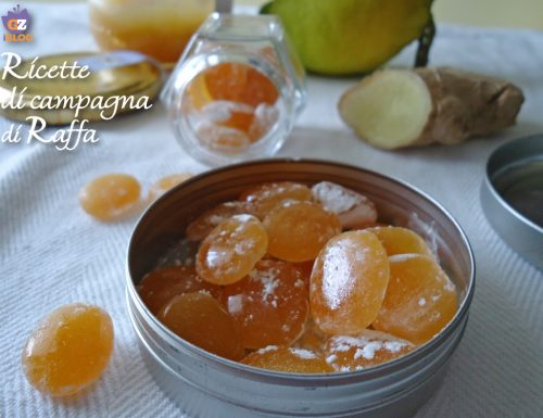 Caramelle limone, zenzero e miele