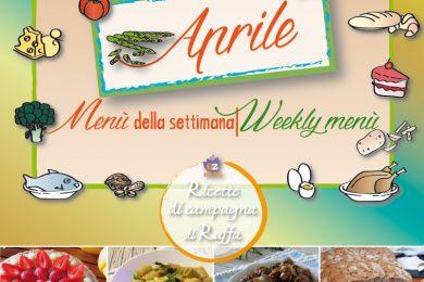 Aprile: proposte per il menù della settimana