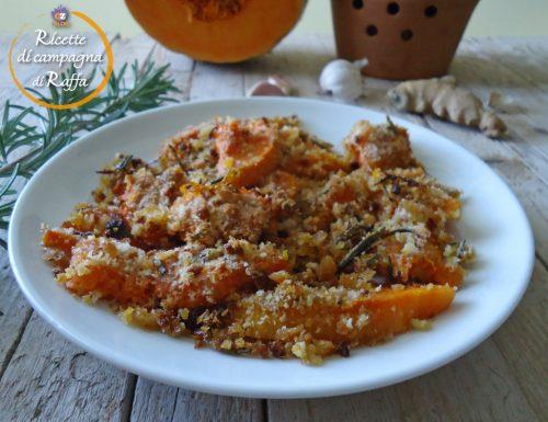 Zucca gialla gratinata al forno veloce e light
