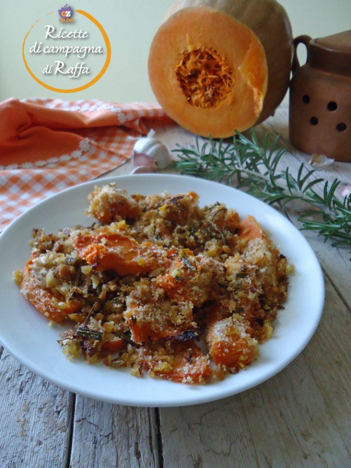 Zucca gialla gratinata al forno veloce e light ricette for Cucinare zucchine trombetta
