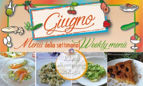 Giugno: idee per il menù della settimana