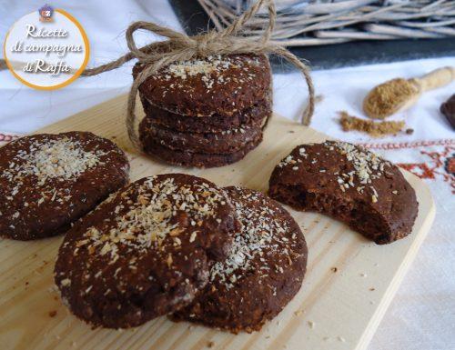 Biscotti grezzi al cioccolato e cocco