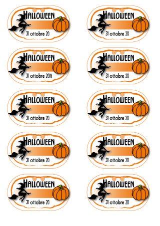 Aperifesta di Halloween - segnaposto da scaricare