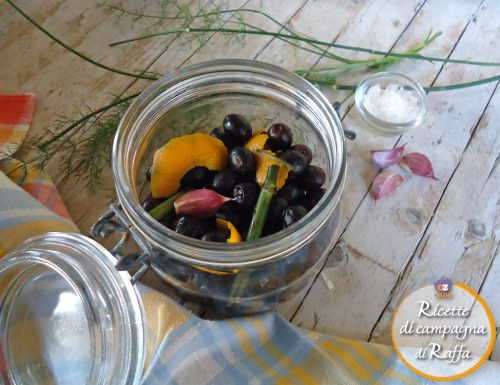 Olive nere marinate alla marchigiana