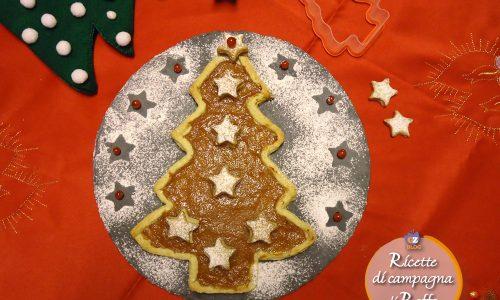 Crostata albero di Natale con stelline