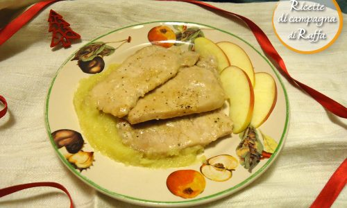 Scaloppine in salsa di mele allo zenzero
