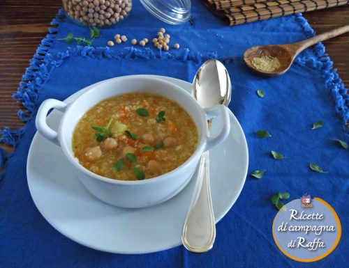 Zuppa di verdure con ceci e cous cous