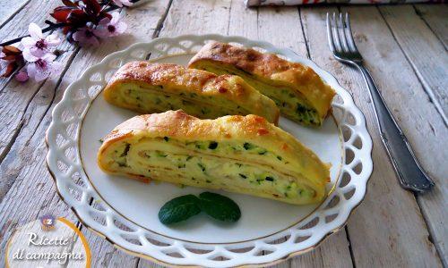 Medaglioni di crêpes alle zucchine