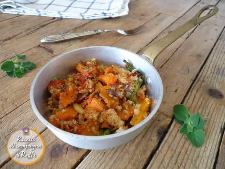 crumble di verdure con pinoli