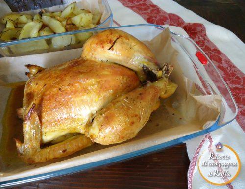 Pollo ruspante arrosto con le patate