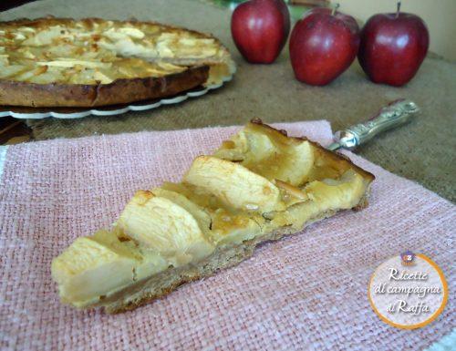Crostata di farina di castagne alle mele