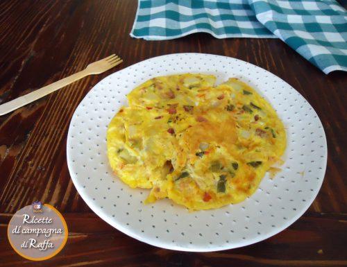Frittata fagiolini, patate con speck