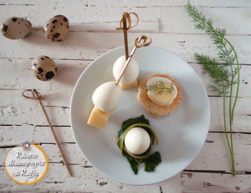 Idee con uova di quaglia sode