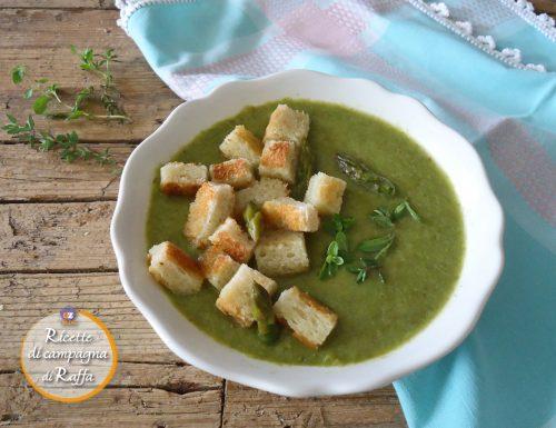 Crema di asparagi verdi alle erbe aromatiche