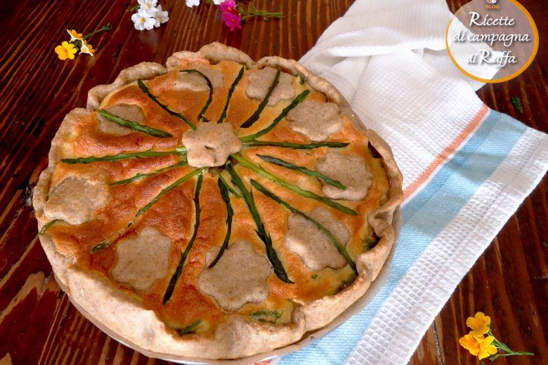 Quiche asparagi e salmone con tofu