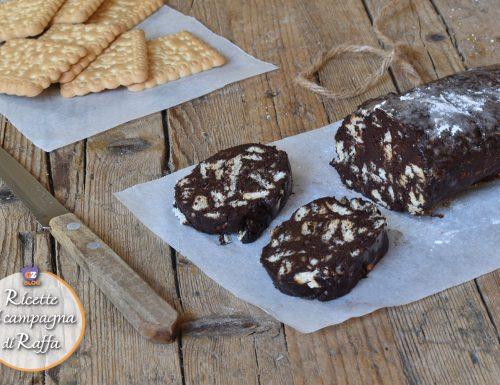 Salame di cioccolato veloce senza uova