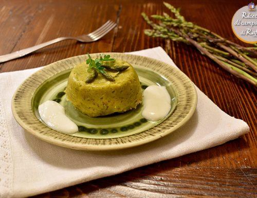 Sformatini agli asparagi con salsa al parmigiano