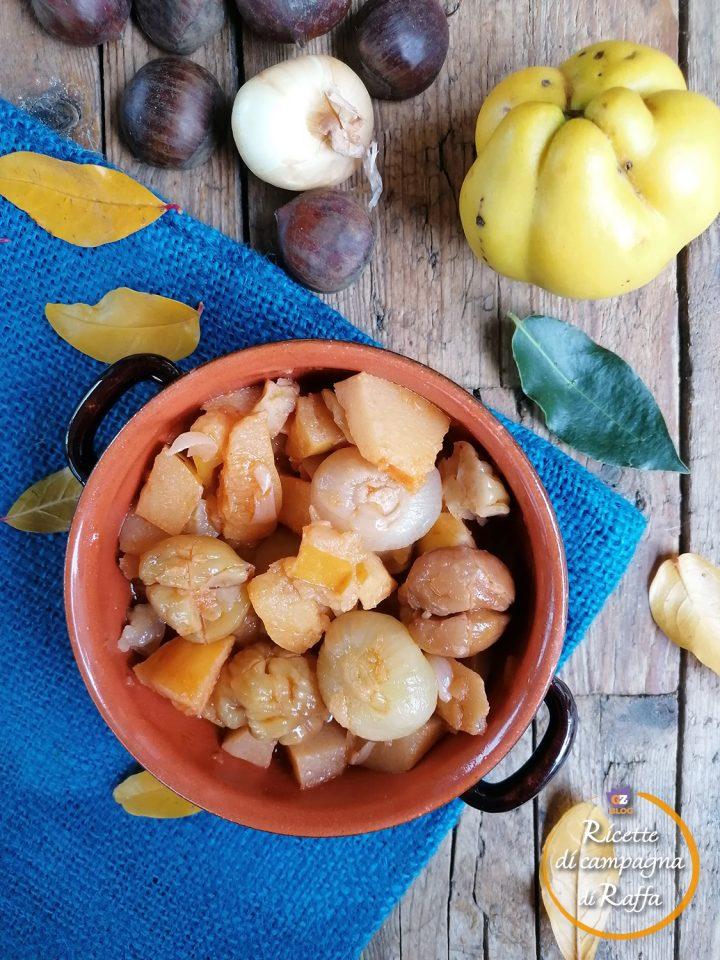 Spezzatino di mele cotogne