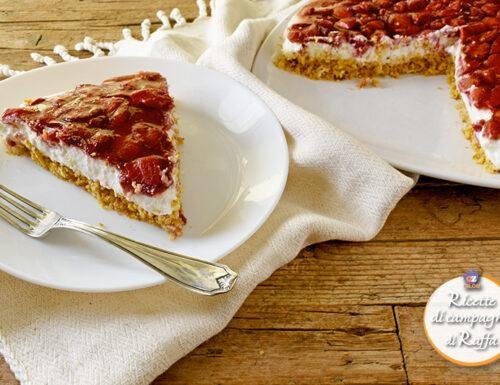 Cheesecake light alle fragole senza burro
