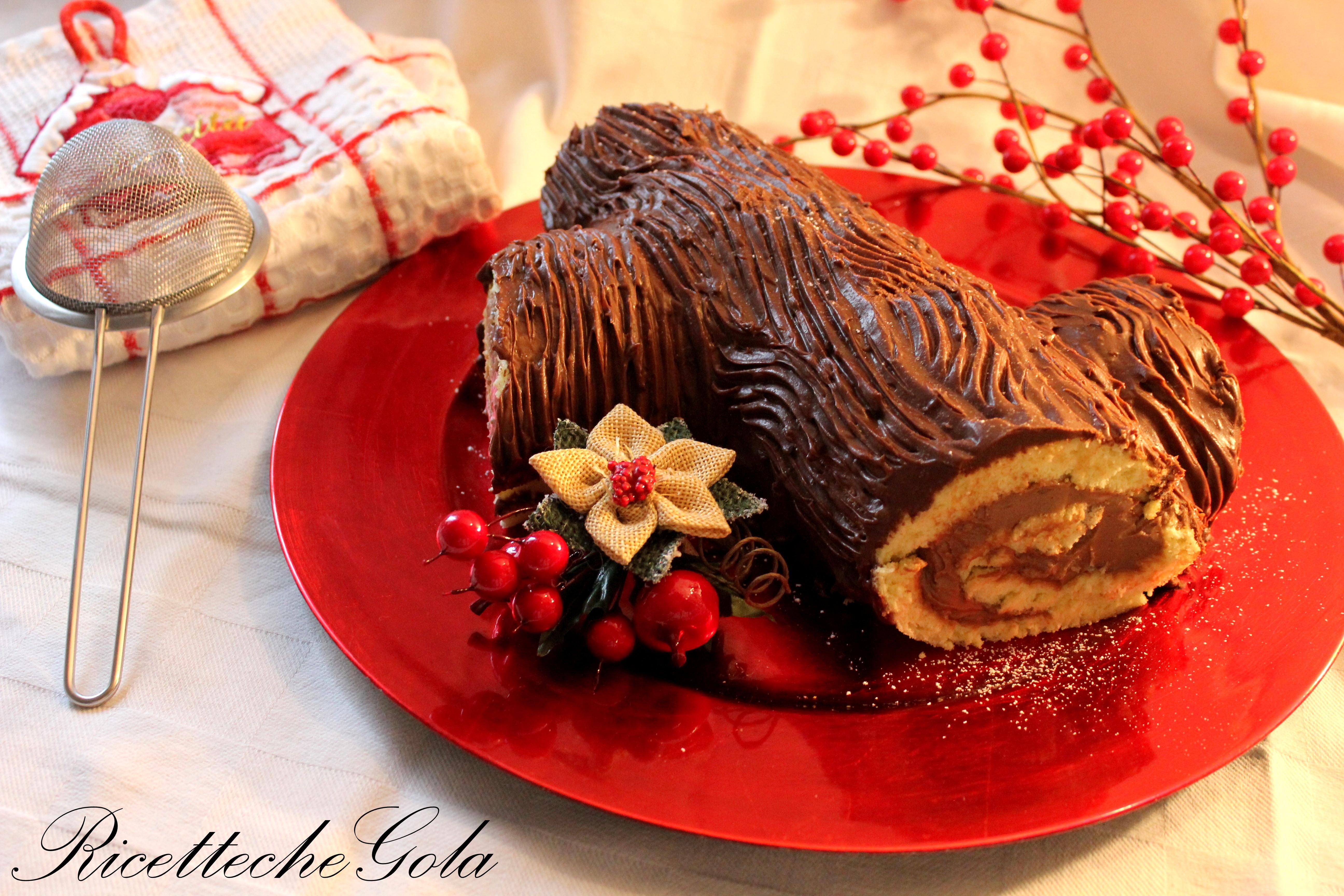 Tronchetto Di Natale Light.Tronchetto Di Natale Alla Nutella