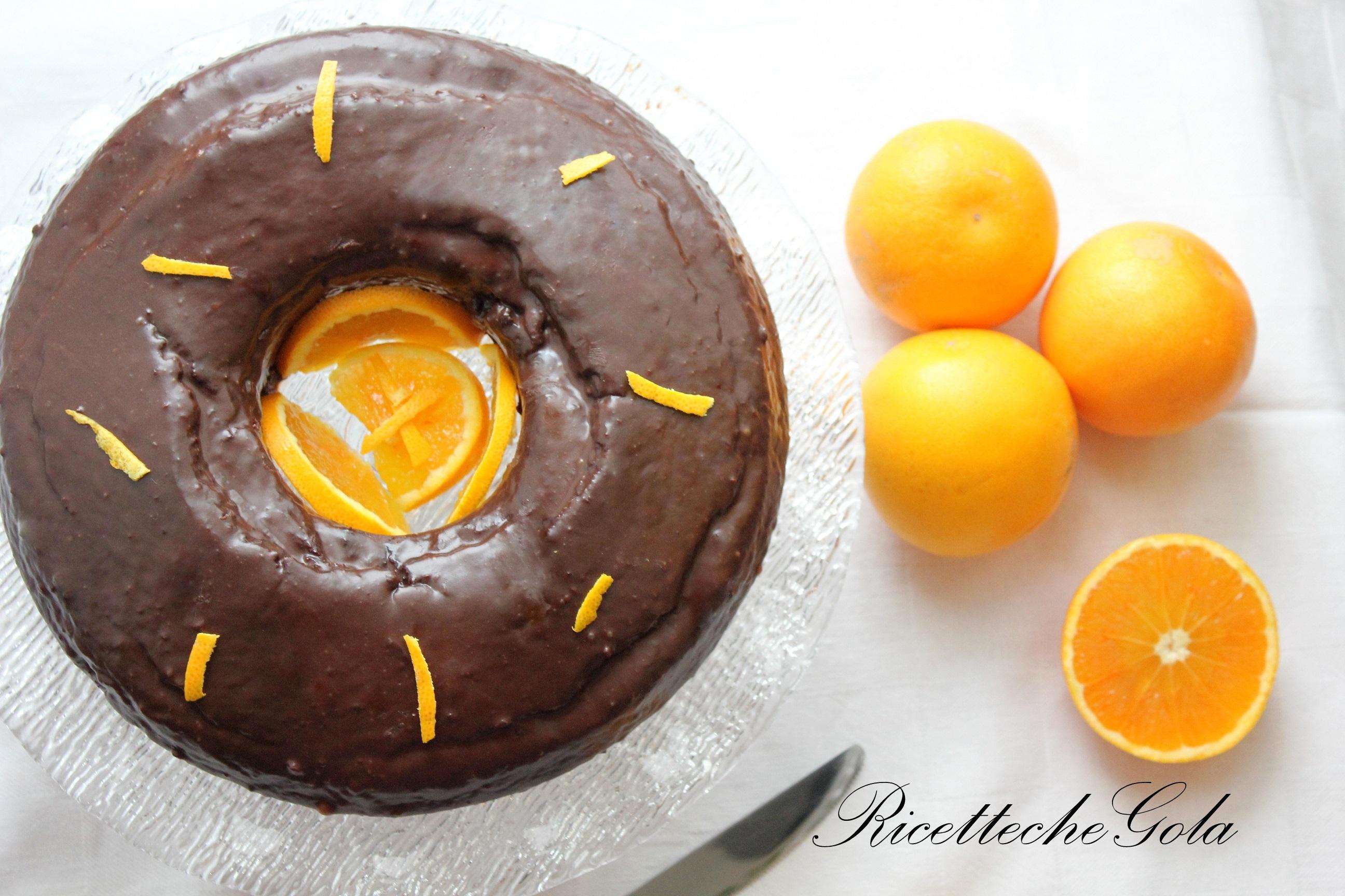 Ciambella cioccolato e arancia senza burro e uova!
