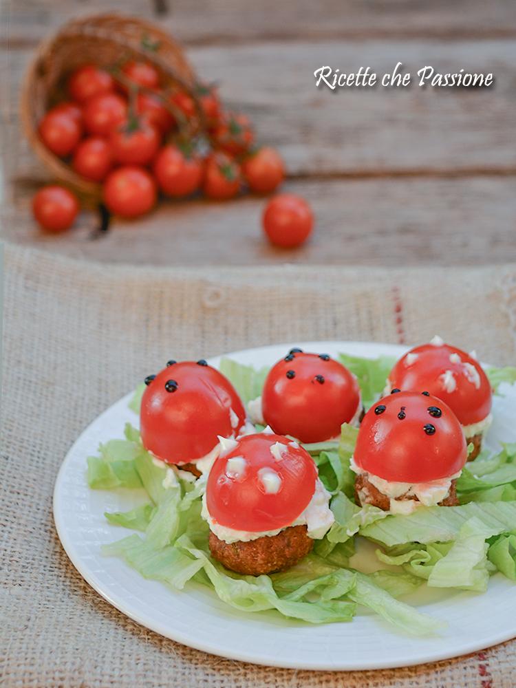 funghetti polpette pomodori philadelphia