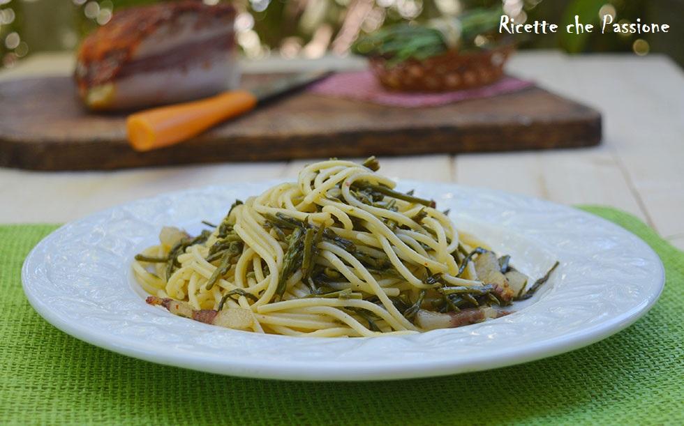 Spaghetti con Asparagi e Guanciale