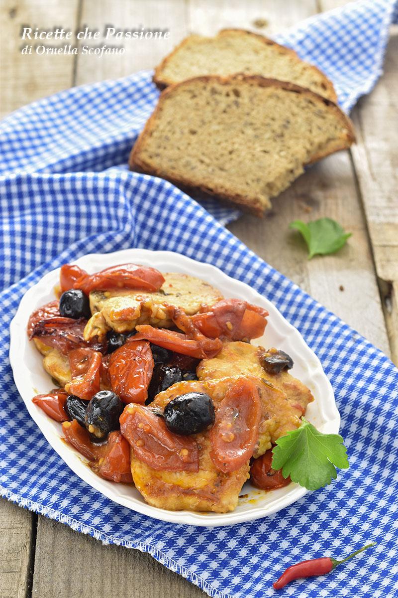 pollo al pomodoro con olive