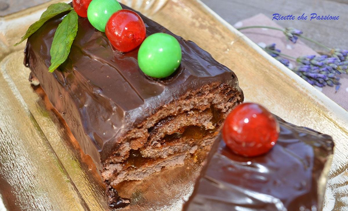 Tronchetto cioccolato e albicocca