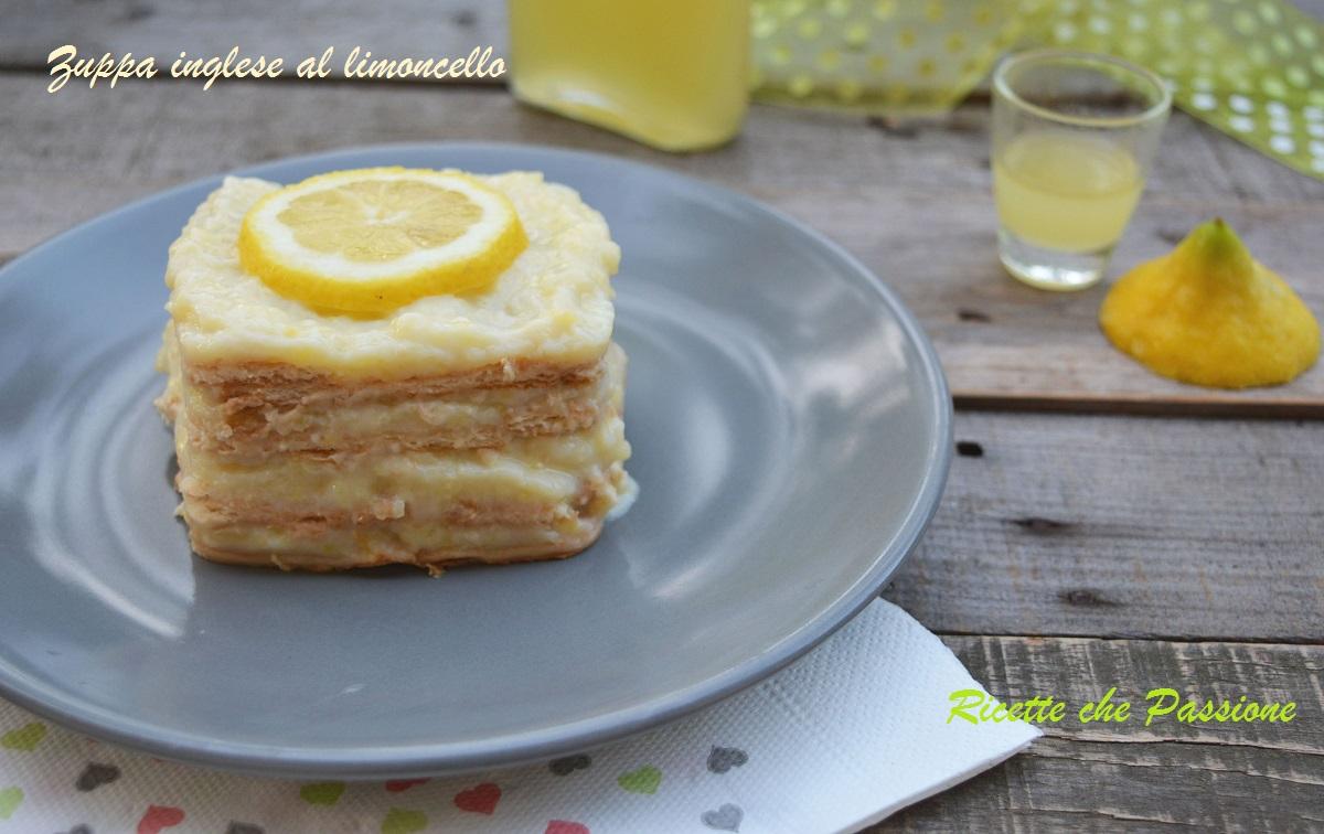 Zuppa inglese con biscotti al limoncello