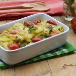 Pasta al Pesto e Patate Gratinata