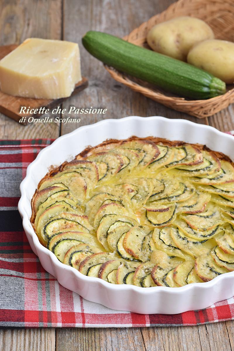 Patate e zucchine gratinate al parmigiano