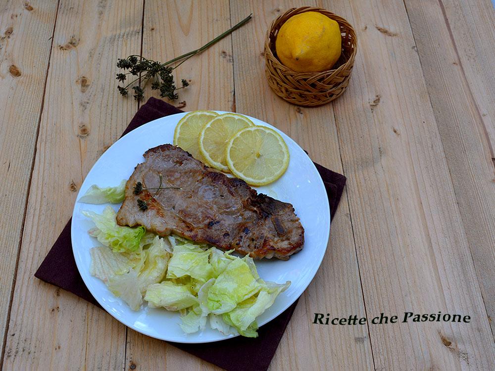 Bistecca di Maiale con Limone e Finocchietto