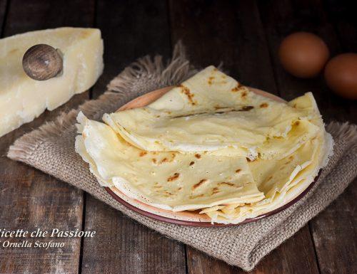 Crepes al parmigiano senza burro