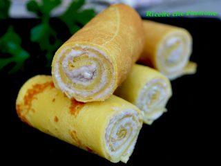 rotolini di crepes con crema di prosciutto