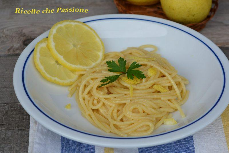 Spaghetti al Limone Flambè