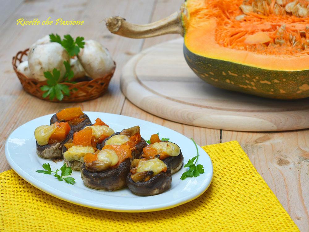 Funghi ripieni di Zucca al formaggio