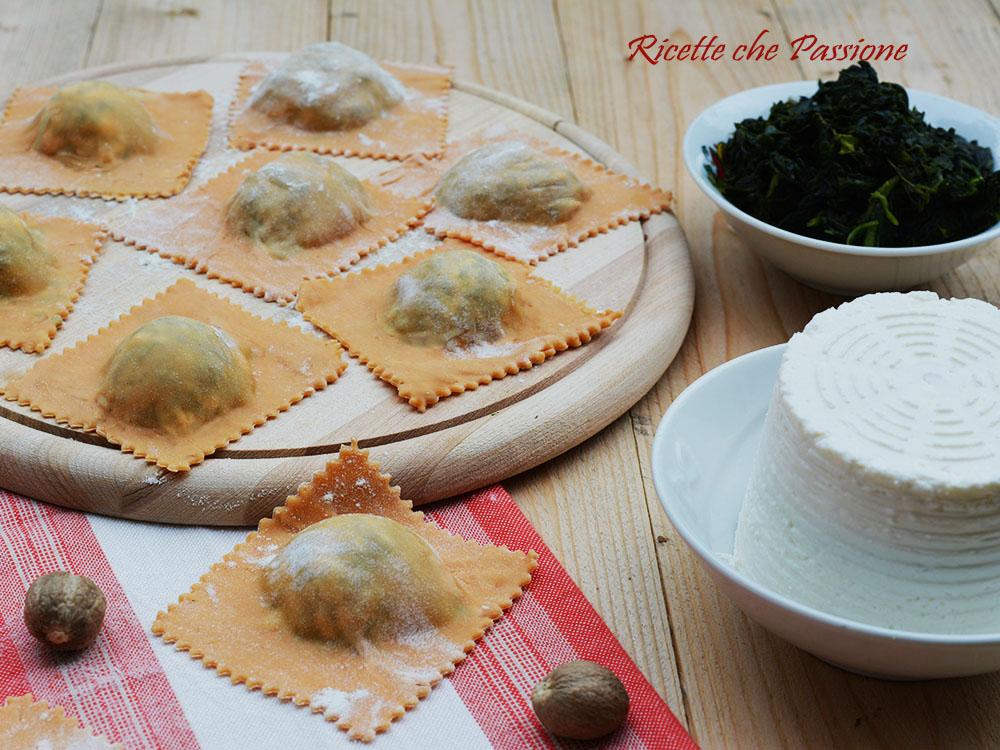 Ravioli Ricotta e Spinaci col Tricolore