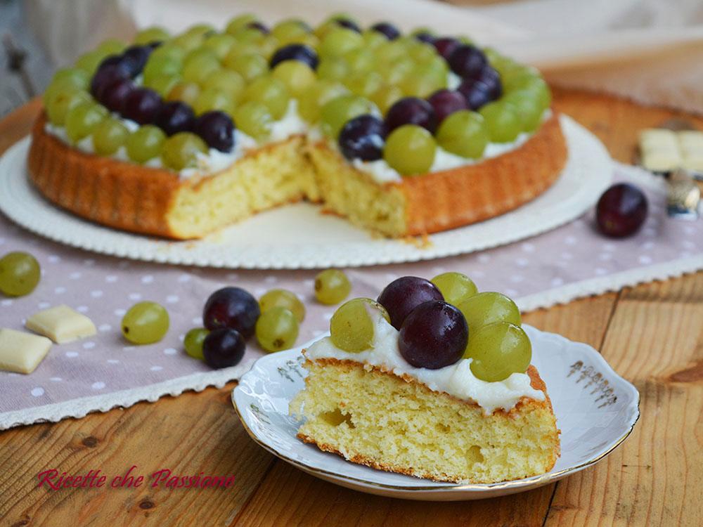 Torta All'uva con Crema al cioccolato bianco