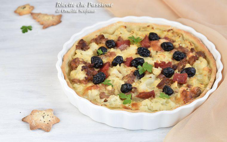 Torta Salata Salsiccia e Cavolfiore