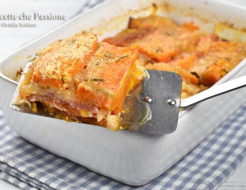 Parmigiana di zucca a crudo direttamente in forno